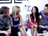 Kleio Valentien and her friend decided it's a good idea to swap partners.