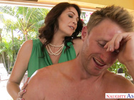 Charlee Chase finds her son's friend passed out by the pool.