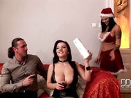 On christmas eve get ready for a big serving of yuletide action ddfbusty-style as dominno, lana ivans give tommy the gift of a penis pump--and then demonstrate conclusively that the best things ever invented for the purposes of cock stimulation, spooging