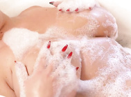 Kora from poland returns for her 12th scene on our site lounging in a bubble bath, she quickly produces a vibrator which gets to spend some quality time between her 36ddd/e jugs.