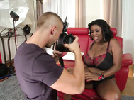 A photographer doing some photos of busty pornstar maserati for a big tits porn site gives us the perfect scenario for deepthroat blowjob action crammed not only with cock sucking as a big dick is serviced between enormous black juggs, but also the thrill