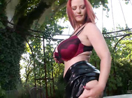 What could be nicer than sitting in the leafy shade of a garden in the south of france with the legendary vanessa from poland as your companion in pleasure.