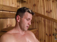 Angel wicky gets exactly what she bargains for when she comes onto the two guys sharing the sauna with her today.