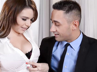 Marina visconti comes home after work, is met by her horny man mugur.