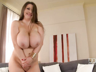 Of course the deep line between her 34dd boobs in this softcore video crammed with the titty shaking we need, expect from goddesses of samanta