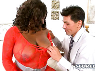 In a luxe penthouse, Luxury Amore shares her equally luxe 36G whoppers with a select clientele--anxious businessmen who need a dose of big-titted stress busting.