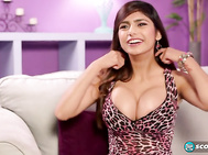 Now it's time to get to know Mia Khalifa, the Busty Girl Who Works Behind The Counter At The Hamburger Joint where some SCORE guys eat lunch a few times a week.