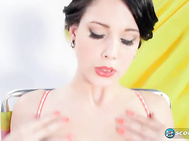 It's naked, boob-bouncing, pussy-flashing picnic time with Noelle Easton.