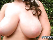 It's tits and giggles time with new SCORE visitor Rockell.