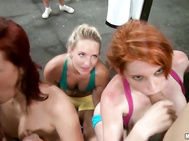 Ava Cash, Cali Carter, Rainia Belle  - Orgy At The Gym.
