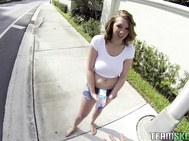 I saw big tittied Brooke Wylde trying to hail a cab to South Beach.