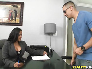 Bruno came in for an interview with Maxine.