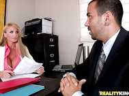 Taylor was interviewing me for an open salesman position.