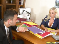 Britney was waiting on some files that John was bringing to the office.