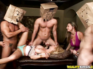 They got three naked studs with paper bags of over their heads for Holly to do whatever she pleases.