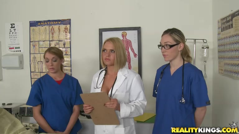 Krissy Lynn and her nurses were taking care of a patient when Dr.