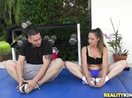 He told her he was a personal trainer and he was going to hook her up with free training sessions.