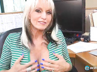 When Sally D'Angelo was here at SCORELAND, she pitched in as a receptionist.