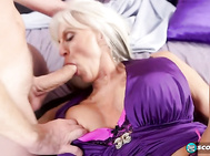 The silver-haired vixen loves to dress in low-cut, boob-revealing outfits and always wears porn-girl shoes.