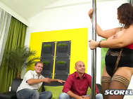 This is the first time Sirale has played hot stripper and worked the pole.