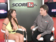 Stephanie Stalls is the first guest of this special SCOREtv presentation, SCOREtv Uncut & Uncensored, the first time that SCOREtv adds big-boobed XXX hardcore sex to its mix of interviews, vignettes, skits and other late night fare.