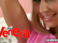 Looking like a living doll, Venera makes her SCORELAND debut in the three part Special Meet Venera with a video interview from Montego Bay, Jamaica, and a pictorial and video of this mouthwatering babe trying on sexy outfits and playing with her gorgeous