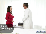 No one knows why hot girls with big boobs are always drawn to visiting quack doctors that fuck them hard but they are, and this visit by new discovery Vicky Soleil in her first XXX scene shows how these physicians operate.