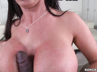 This deadly dame is ready to take on some hard black cock.