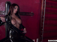 Got to love a sexy lady in a leather dominatrix outfit.