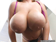 We got another hottie this week, the well endowed Brandy Dean with her 38 triple D's.
