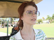 Joslyn James is looking sexy as fuck on the green.