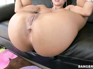 He warms her up with some beads, and she sucks on his dick getting it really hard.