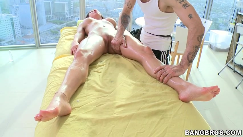 She calls over the local massage therapist so she can get a relaxing rub down.