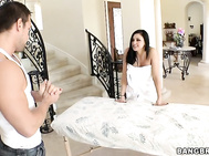 So this week on Porn Star Spa the beautiful Audrey Bitoni calls over a massage therapist to help rub out the kinks.