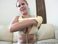 I got exited when I knew I was going to get to work with Chrissy's gorgeous ass and big round double D tits.