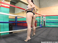Boxing can be a difficult sport, but when you throw in some sexy babes, boxing turns out to be fun.