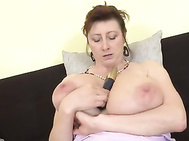 Pretty mature with super tits and hungry vagina