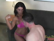 Leena Demands Muscle Worship from Hung Stud