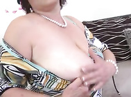 Buxomy mother suck and fuck innocent lucky son