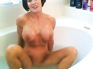 Unbelievable Housewife Takes a Bath