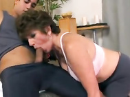 Horny Granny Yoga And Sex