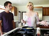Orally pleasured wife banged by her stepson