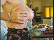 Chesty pierced MILFs dressing each other in beautiful lingerie