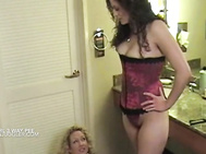 Lesbian pissing 3some