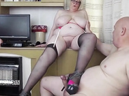 Playing with a stocking lover