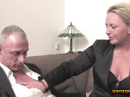 Girlfriend German housewife fucks guys after business meeting