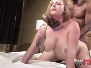 Huge Tits Redhead Surprised by Huge Brown Dick