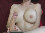 20yr old chesty gf getting cum on her huge boobs