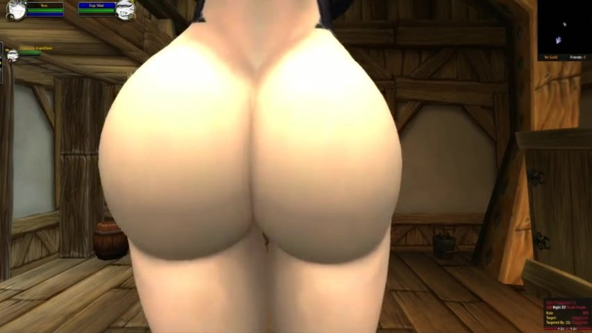 (WoW) HOT PALE NIGHT ELF SHAKES HER BUTT FOR YOUR CUM